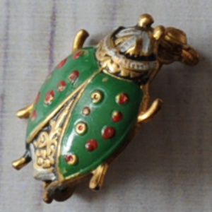 vintage Spain Spanish bug insect beetle brooch pin